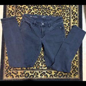 Women's Anne Taylor Loft curvy skinny black Jeans